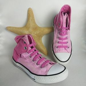 Converse Girl's Pink Size Junior 2 Velcro HighTop